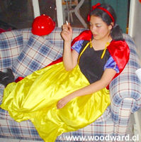 Snow White Smoking on the Sofa